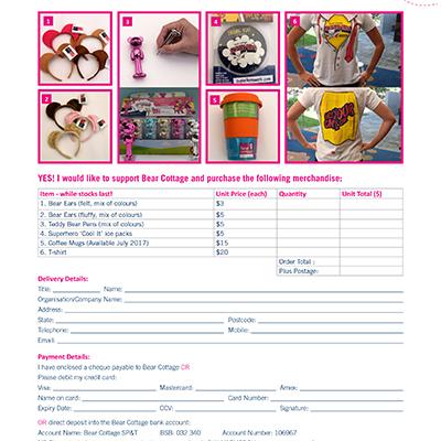 Merchandise Order Form