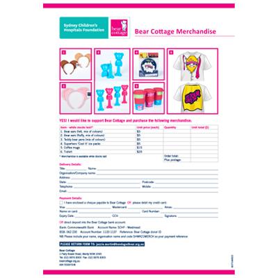 2021 Merchandise Form